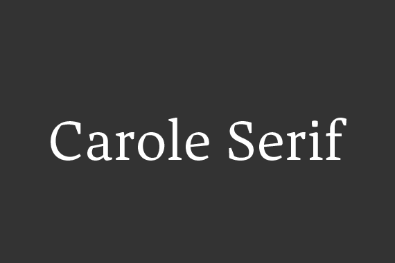 Carole Serif